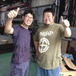 東大阪市、柳本さんの工場にスクラップを積みに☆