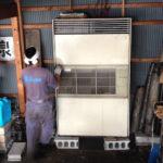 平野区、倉庫に眠る業務用エアコンの撤去をご依頼いただきました。