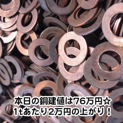 【銅相場情報2013.11.22】無酸素銅ガスケットのご紹介☆