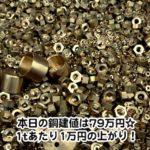 【銅相場情報2013.12.13】真鍮は美しい・・・