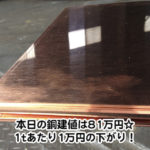 【銅相場情報2014.1.23】銅板は鏡のような輝き