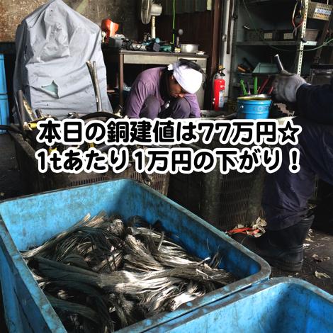 【銅相場情報2014.2.3】電線剥いたら錫メッキ線☆