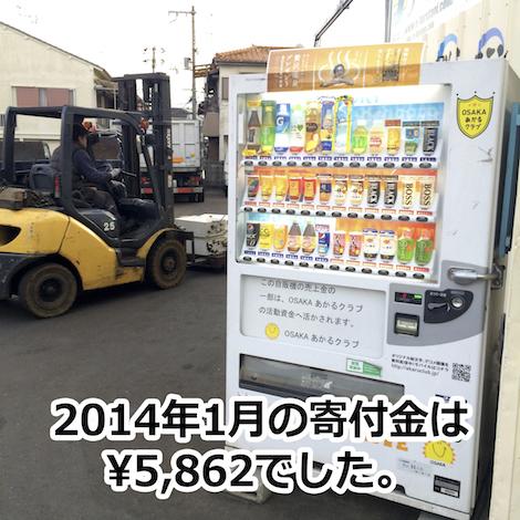 【OSAKAあかるクラブ支援自販機 2014年1月の寄付金額】金メダルの正体とは?(金属的視点)