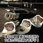 【銅相場情報2014.3.10】キャップタイヤのゴム被覆はなかなかの強敵!