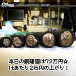 【銅相場情報2014.3.26】電線スクラップの価格は歩留まりで決まる?