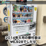 OSAKAあかるクラブ支援自販機 2014年5月の寄付金額