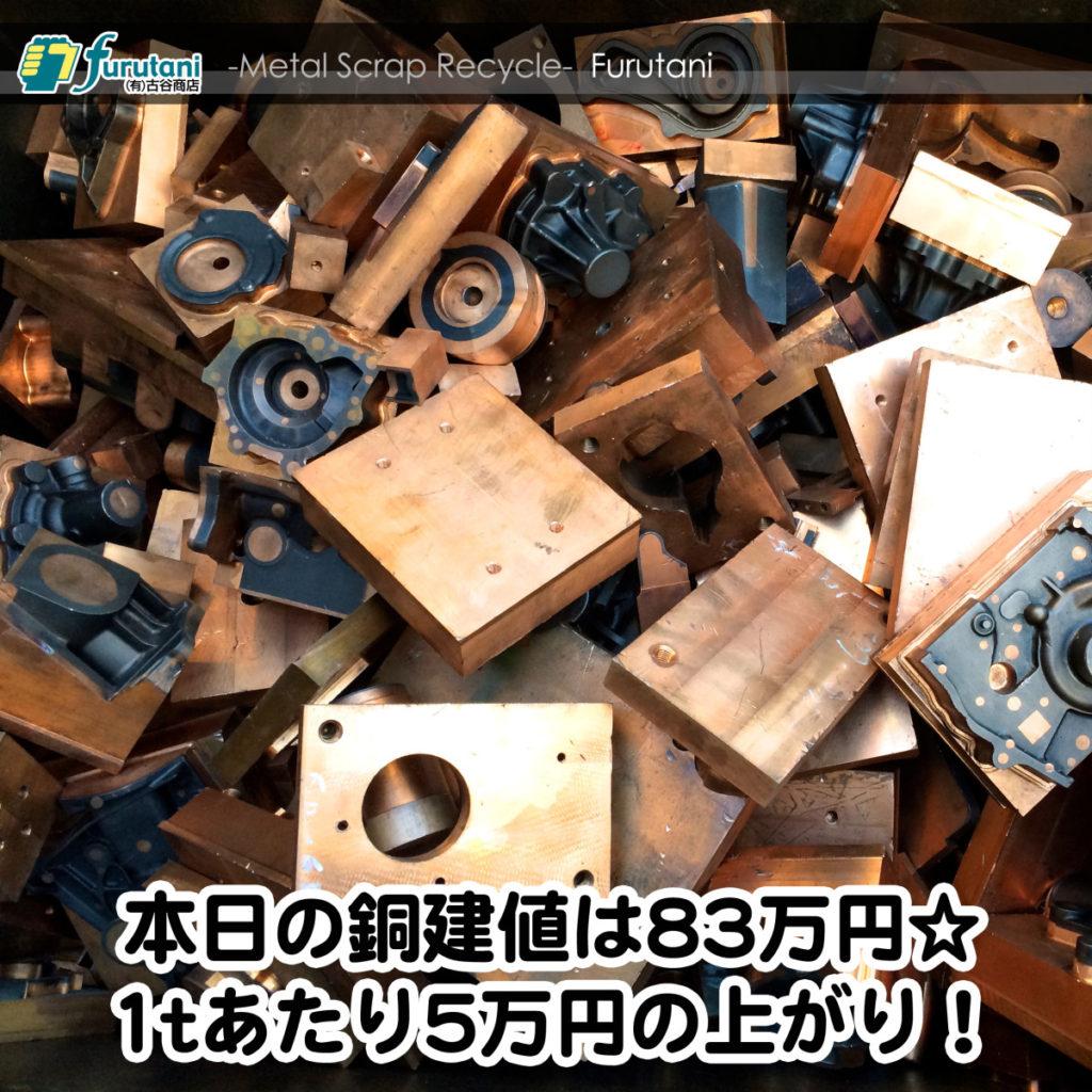 【銅相場情報2014.12.22】銅金型の素材は様々?素材によって単価も様々!