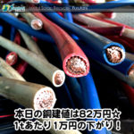 【銅相場情報2014.12.12】年末商戦突入!引取のご依頼はお早めに!