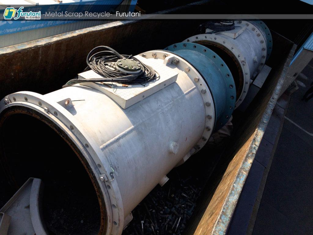 抽水プラントの改修に伴う巨大鋳鉄管スクラップにテンションUP☆