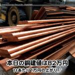 【銅相場情報2015.5.13】長尺の銅ブスバー入荷しました!