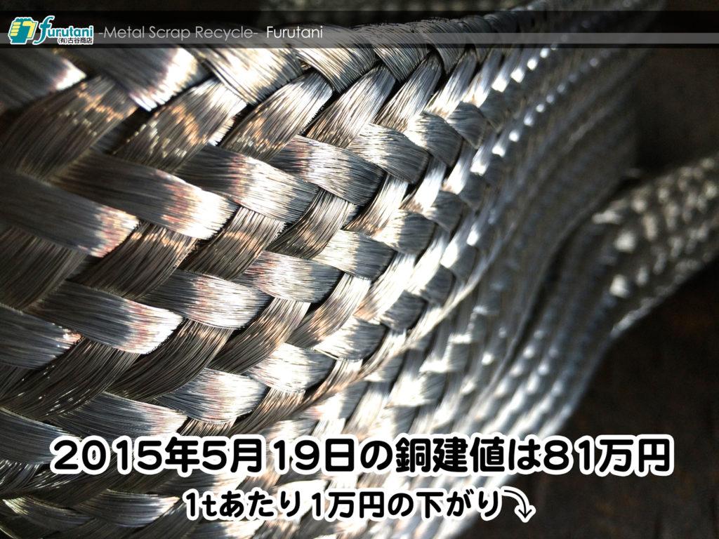 【銅相場情報 2015.5.19】錫メッキ銅線の編みこみが芸術的美しさ!