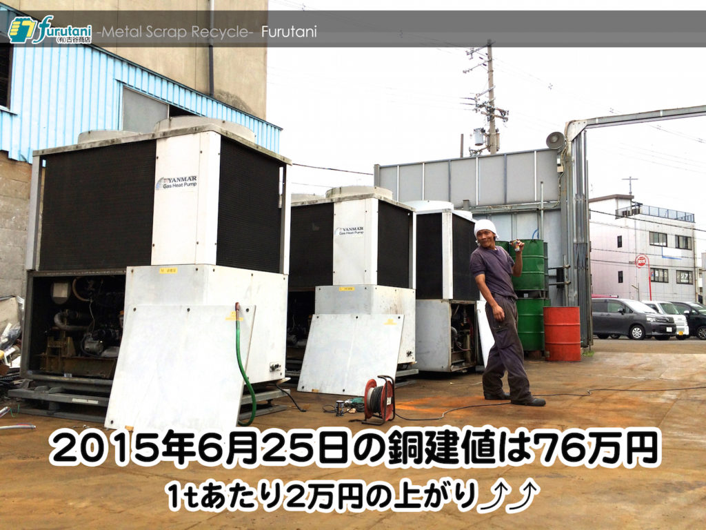 【銅相場情報2015.6.25】夏の風物詩、GHP入荷ラッシュ!