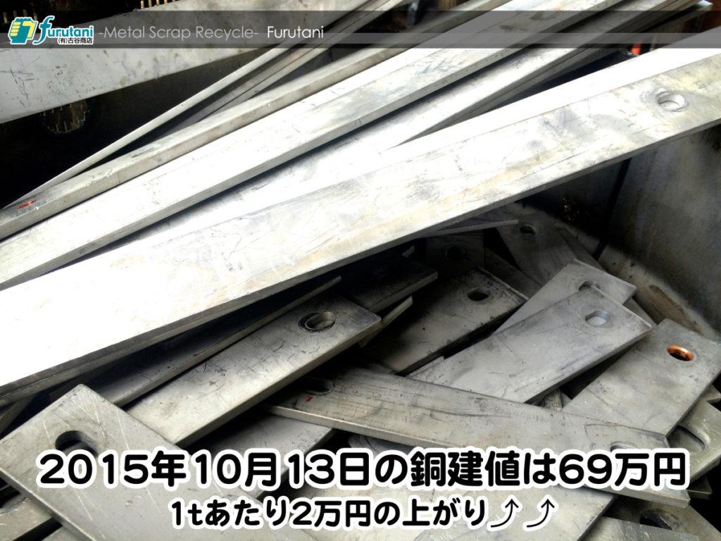 【銅相場情報 2015.10.13】1tあたり2万円上がりの69万円☆