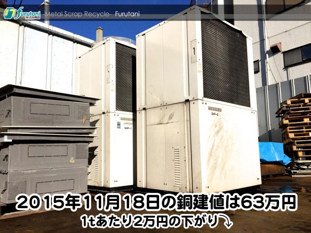 【銅相場情報 2015.11.18】東大阪は雨!銅相場も雨模様!