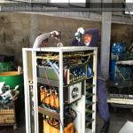無停電電源装置(UPS)スクラップの解体