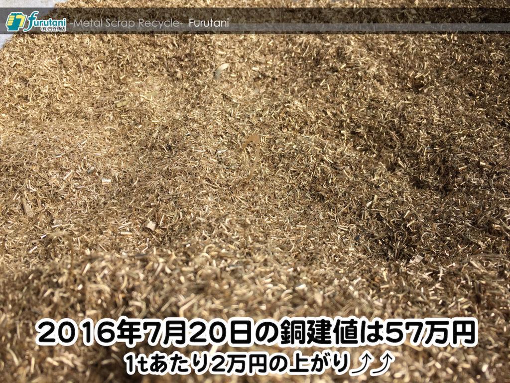 【銅相場情報 2016.7.20】1tあたり2万円あがりの57万円!