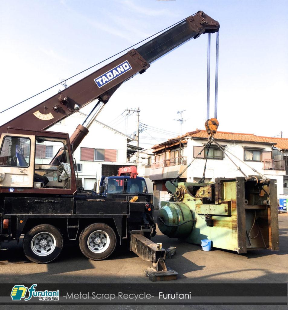 八尾市にて、大型プレス機を撤去してきました!