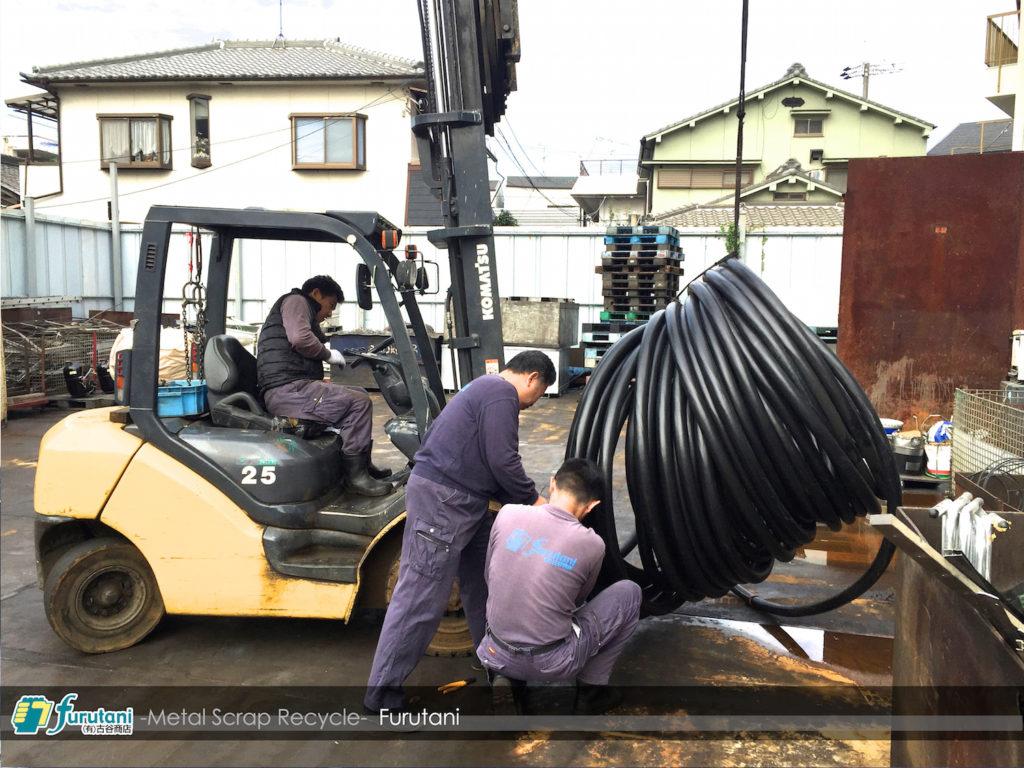 ケーブルドラムに巻かれた電線も取扱いできます☆(^▽^)
