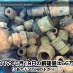 【銅相場情報 2017.5.19】1あたり2万円下がりの66万円に改定⤵⤵☆