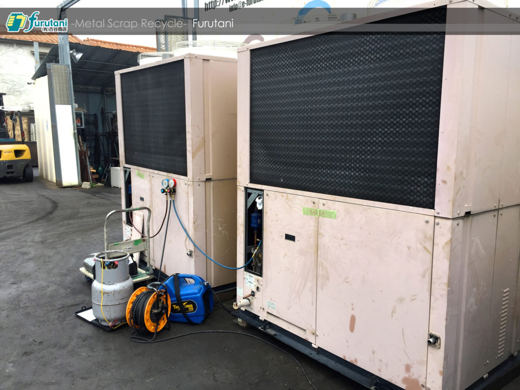 GHP冷媒回収作業