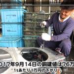 【銅建値情報 2017.9.14】1tあたり1万円の下がり⤵