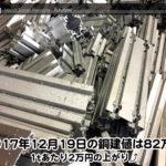 【銅建値情報 2017.12.19】1tあたり2万円の上がり⤴