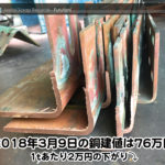 【銅建値情報 2018.3.9】1tあたり2万円下がりの76万円に改定⤵(^ー^)