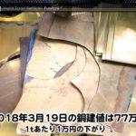 【銅建値情報 2018.3.19】1tあたり1万円下がりの77万円に改定☆⤵