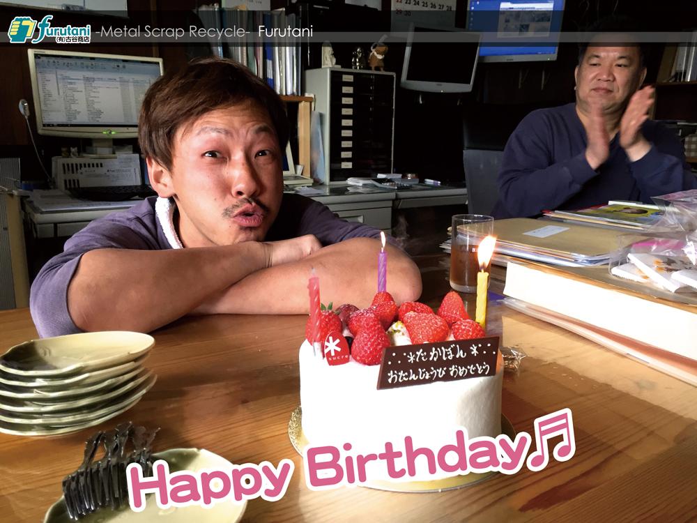 """スタッフ""""たかぼん""""、34歳のBirthday♬(^▽^)"""
