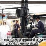【銅相場情報 2018.11.8】1tあたり2万円下がりの74万円に改定⤵⤵