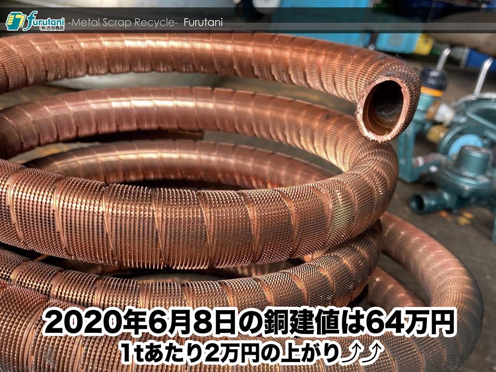 東大阪のスクラップ屋、古谷商店が本日の銅建値をお知らせします