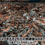 【銅建値情報 2020.6.26】1tあたり1万円上がりの68万円に改定⤴