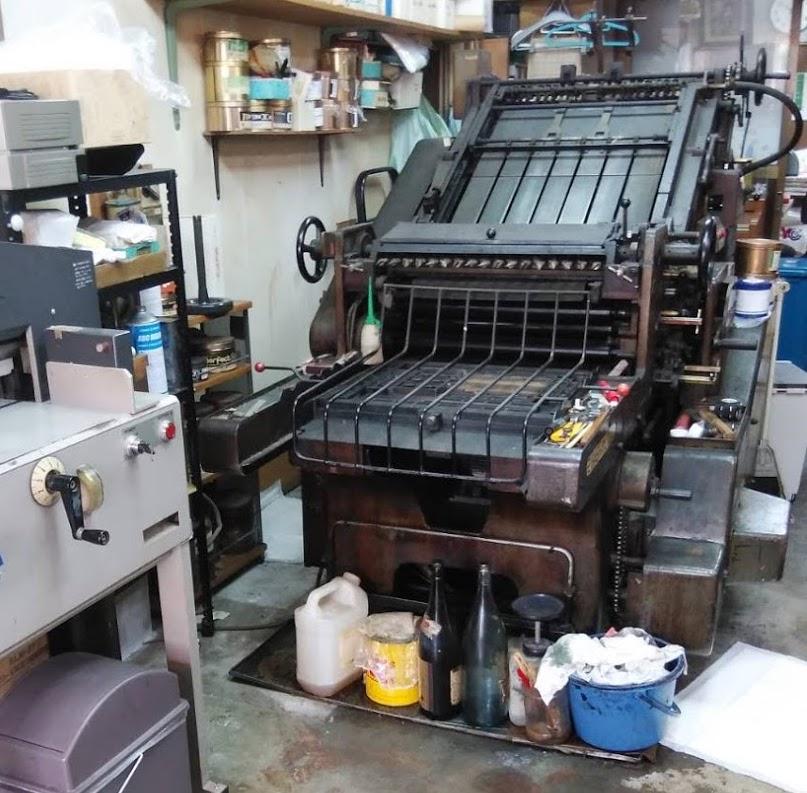 印刷機の撤去作業
