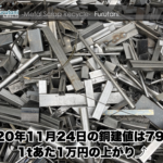 【銅建値情報 2020.11.24】1tあたり1万円上がりの79万円に改定⤴
