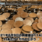 【銅建値情報 2021.6.9】1tあたり1万円上がりの114万円に改訂⤴